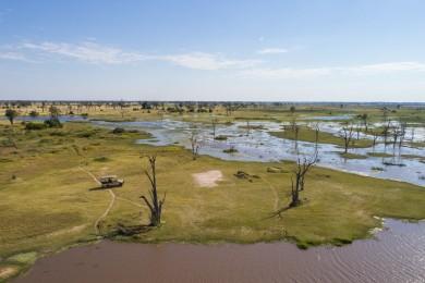 Moremi Game Reserve Aerial View