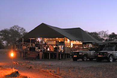 Camp Savuti in the early evening