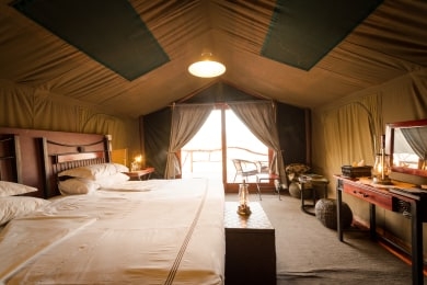 Luxurious Tents on Wooden Platforms