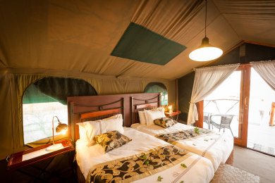 Twin Bed Option in Your Tent