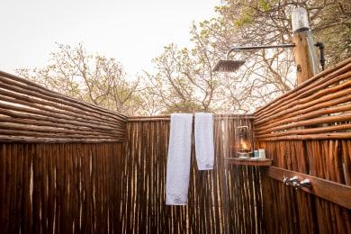 Outdoor Shower Adjacent to Bathroom