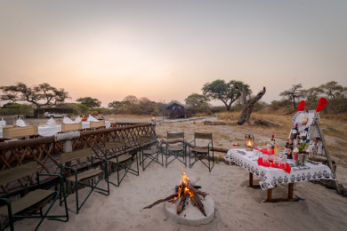 Boma Area and Outdoor Dining