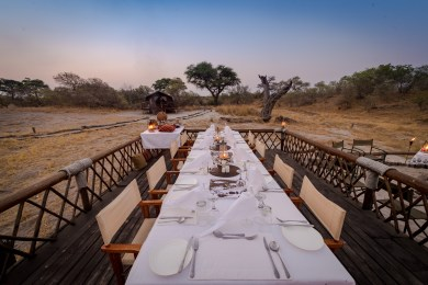 Outdoor Safari Dining With a View