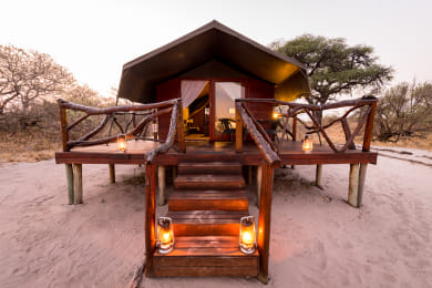 One of the 5 Meru-style Tents