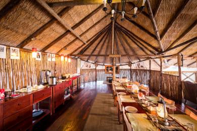True Safari Dining at Camp Savuti