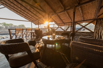 Lounge and Viewing Deck at Camp Savuti