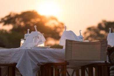 Sunset Dining Camp Savuti