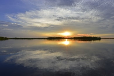 Infamous Chobe River sunset