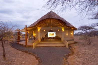 Baraza Conference tent by night