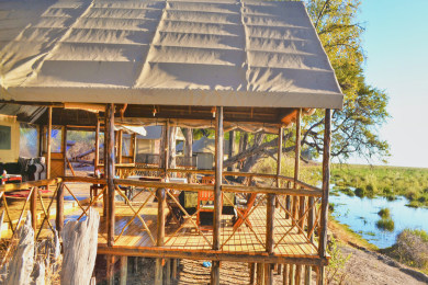 Sweeping views of the Linyanti Marsh and Caprivi Strip