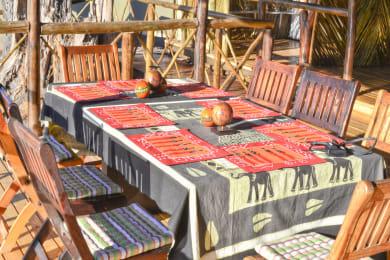 Dining at Camp Linyanti
