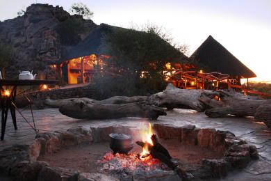 Khowarib Lodge Boma Area