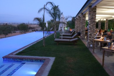 Dinner in the evening at Mooiplaas Guesthouse