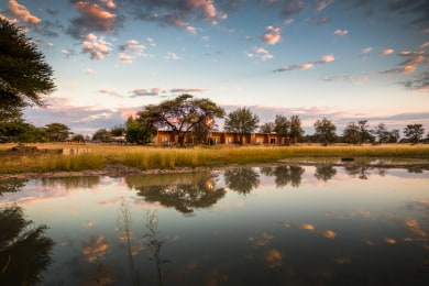 Lodge Waterhole In Rainy Season
