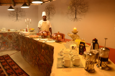 Breakfast and Buffet area in main lodge