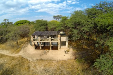 Aerial view of forest villa