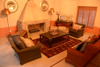 Main lodge lounge area