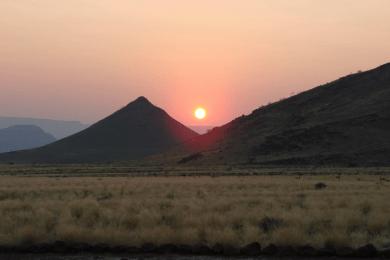 Sunrise over Nubib Mountains
