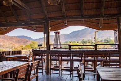 Epupa Falls Lodge Deck & Restaurant