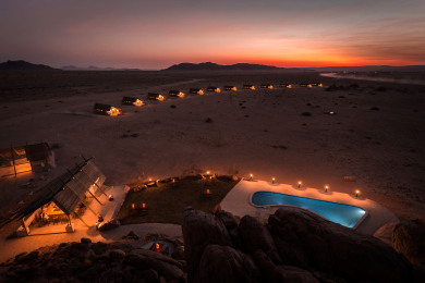 Desert Quiver Camp at night