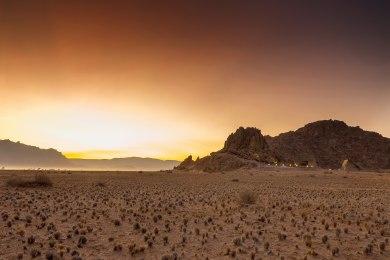 Sunset at Desert Quiver Camp