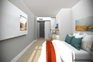 Artist impression of bedroom