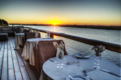 Dining on the Chobe Deck