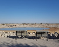 Von Mount Etjo in den Etosha Nationalpark