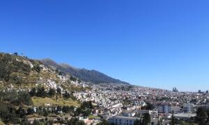Blick über Quito