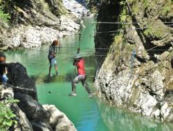 Hochseilgarten-Tour über Wasser (Bregenzerache)