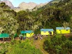 Mutinda Camp 3688m - Kalalama Camp 3134 m