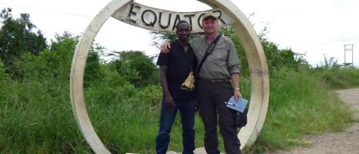 Ivan und Jörg am Äquator