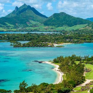 Landschaft und Lage des Four Seasons Mauritius