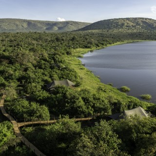 Magashi Camp im Akagera Nationalpark in Ruanda