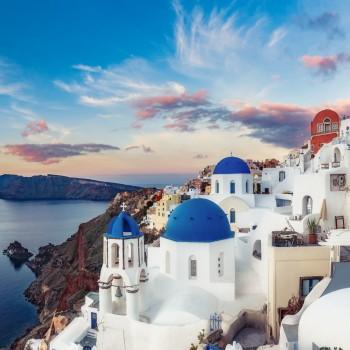 Von Athen auf die Inseln Mykonos & Santorini