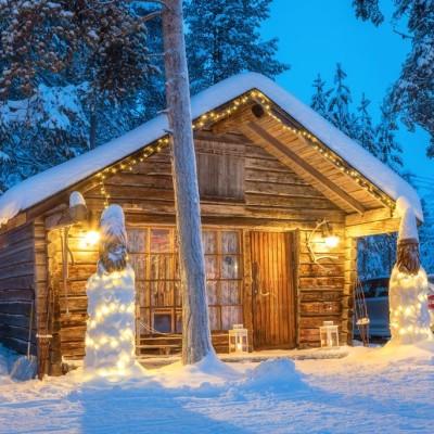 Torassieppi Cabin mit Kamin