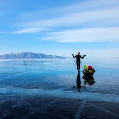 Eistrekking über den Baikalsee