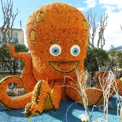 Karneval in Nizza und Zitronenfest in Menton