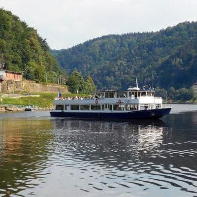 Fließend genießen auf Moldau und Elbe
