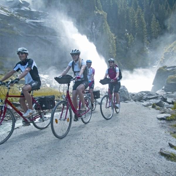 Auf dem Alpen Radweg von Innsbruck nach Salzburg