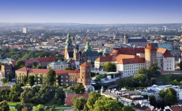 Krakau_Skyline_Luftbild_königlichen_Schloss Wawel_123RF_11085170_s.jpg