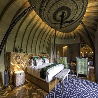 Interior Suite in der Bisate Lodge