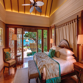 Schlafbereich der Villa