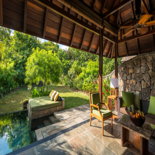 Terrasse der Beach Pool Villa