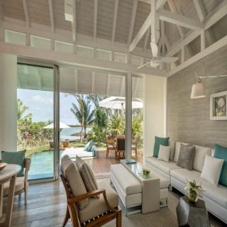 Wohnbereich der Beach Pool Villa