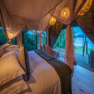 Schlafzimmer im Magashi Camp
