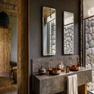 Badezimmer im Singita Kataza House