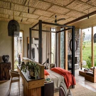 Schlafzimmer im Singita Kataza House