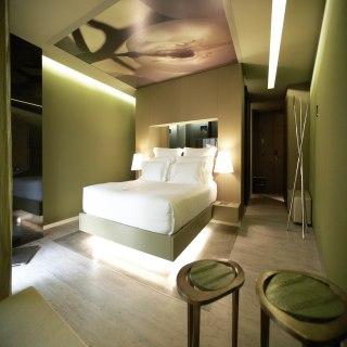 Schlafbereich des Deluxe Zimmer