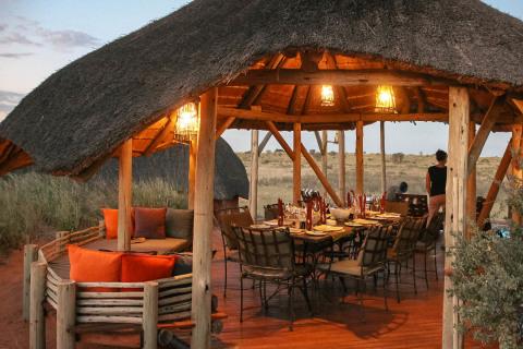 Dunecamp Kalahari red dunes Lodge